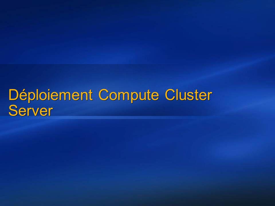 Déploiement Compute Cluster Server