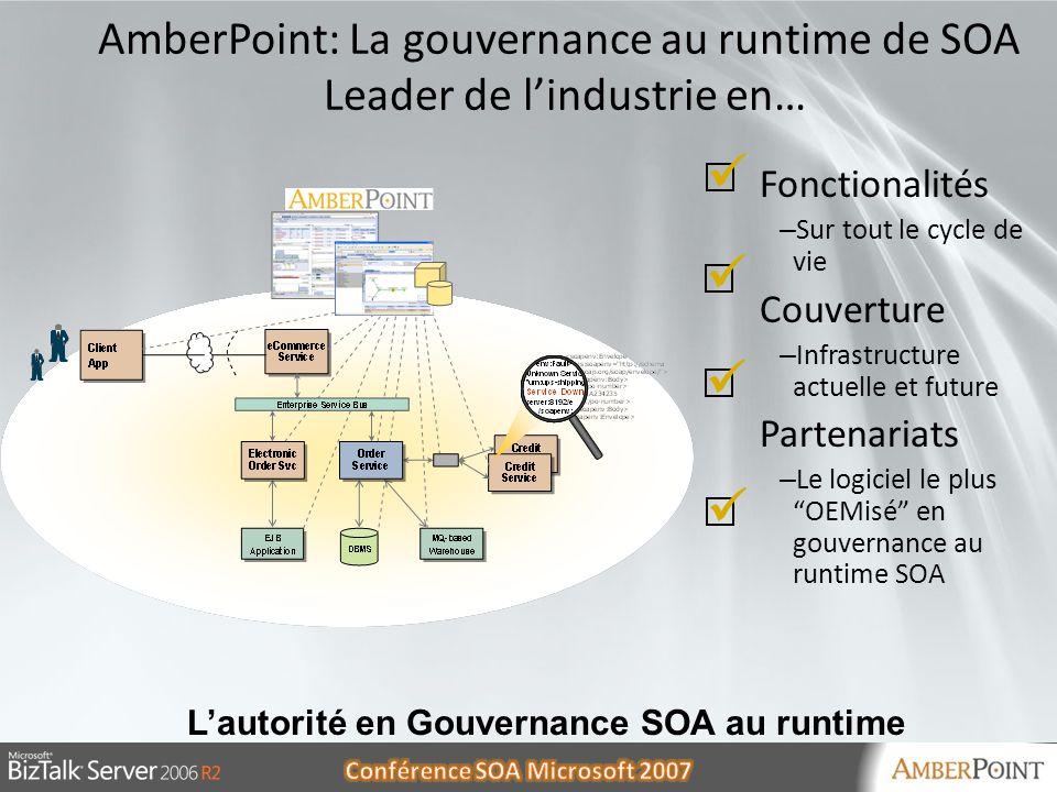AmberPoint: La gouvernance au runtime de SOA Leader de l'industrie en…