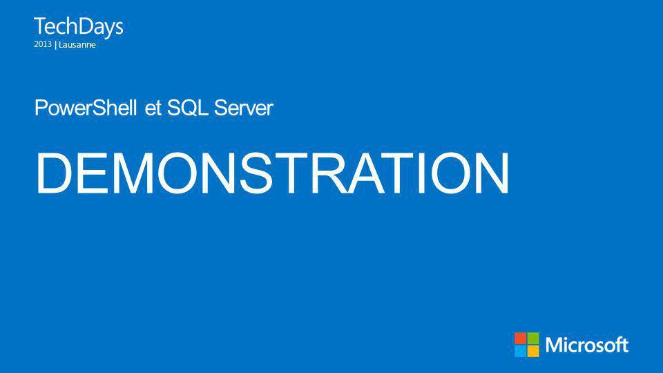 PowerShell et SQL Server