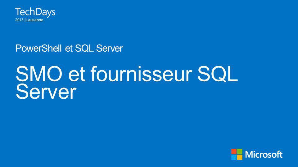 SMO et fournisseur SQL Server