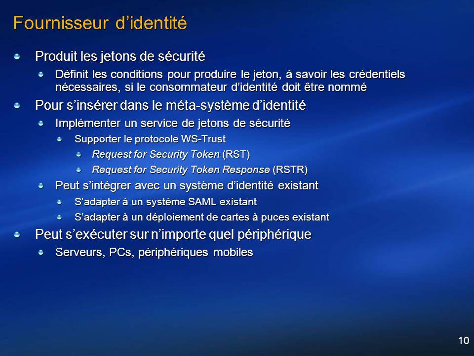 Fournisseur d'identité