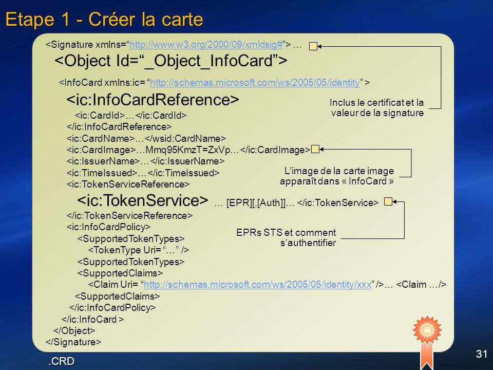 Etape 1 - Créer la carte <Object Id= _Object_InfoCard >