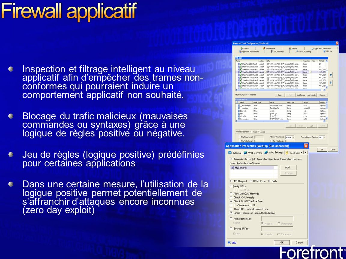 Firewall applicatif