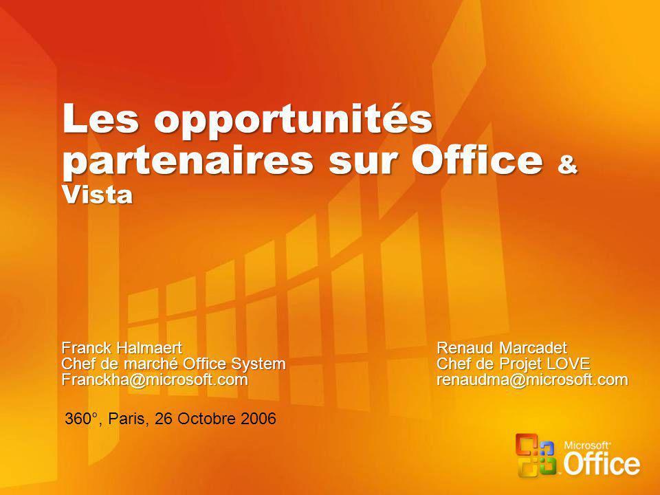 Les opportunités partenaires sur Office & Vista