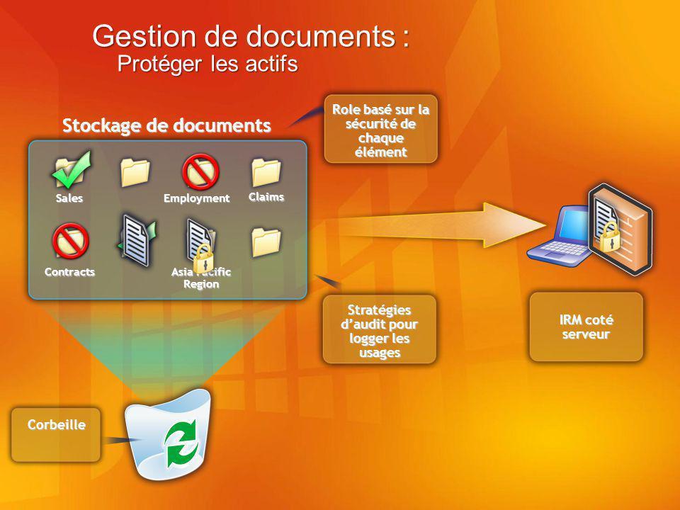 Gestion de documents : Protéger les actifs