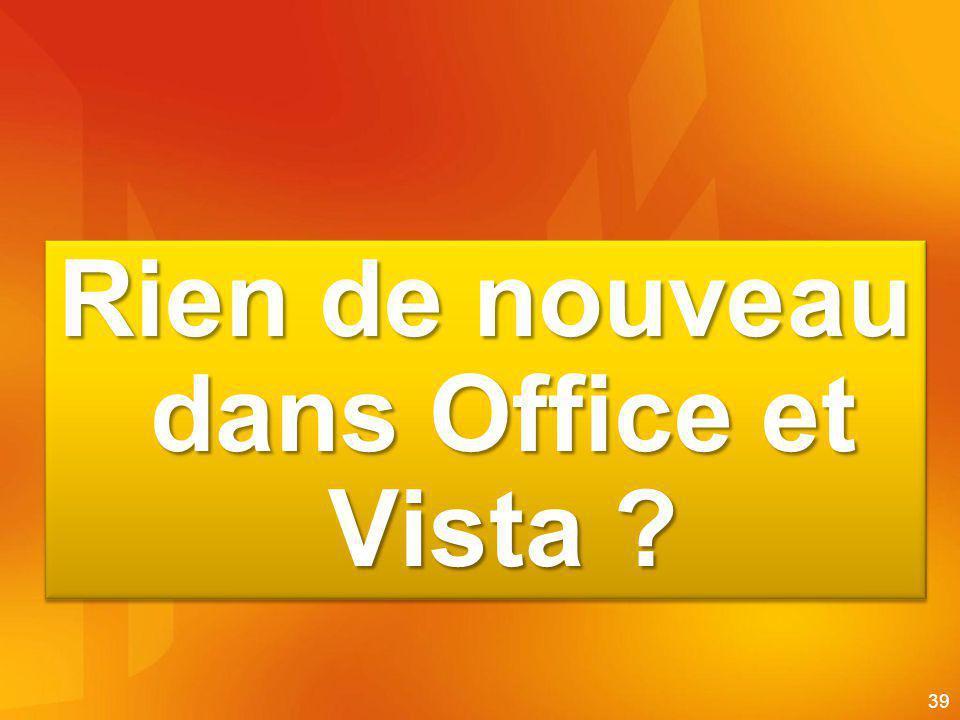 Rien de nouve au dans Office et Vista
