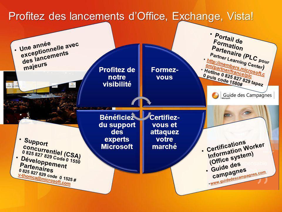 Profitez des lancements d'Office, Exchange, Vista!
