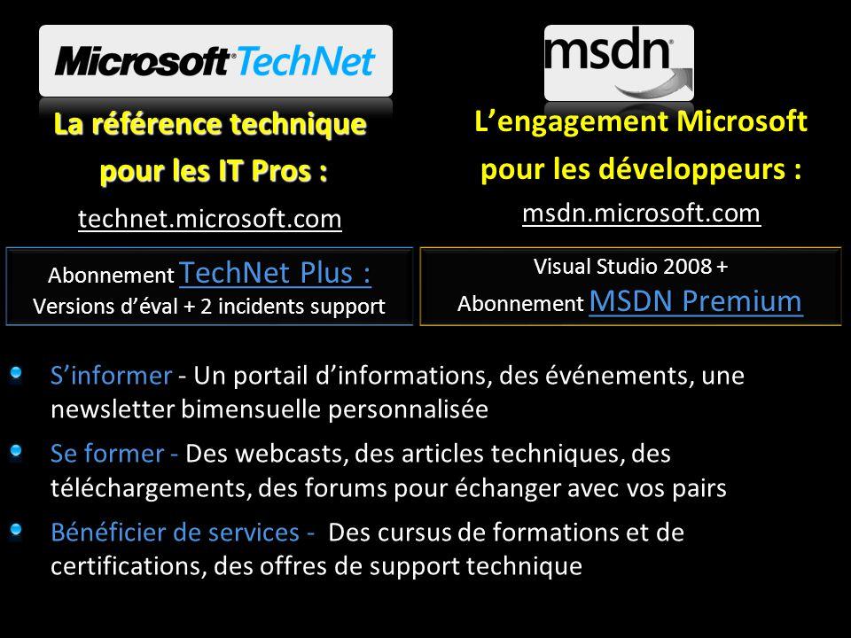L'engagement Microsoft pour les développeurs : La référence technique