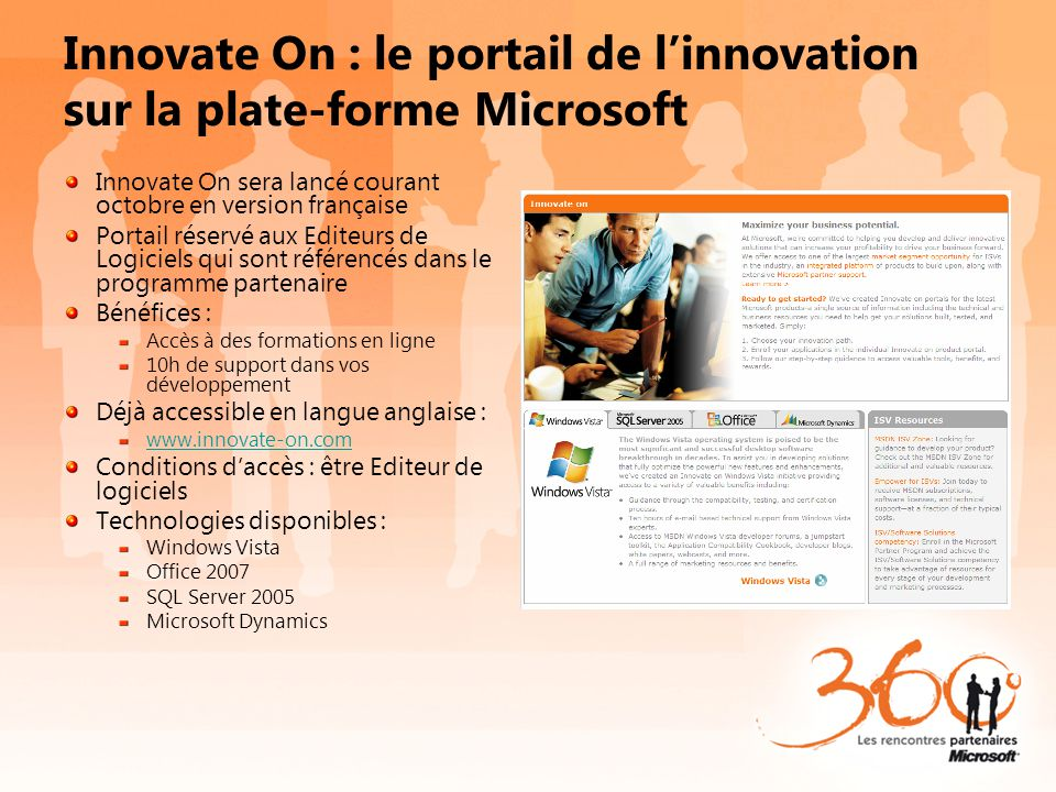 Innovate On : le portail de l'innovation sur la plate-forme Microsoft