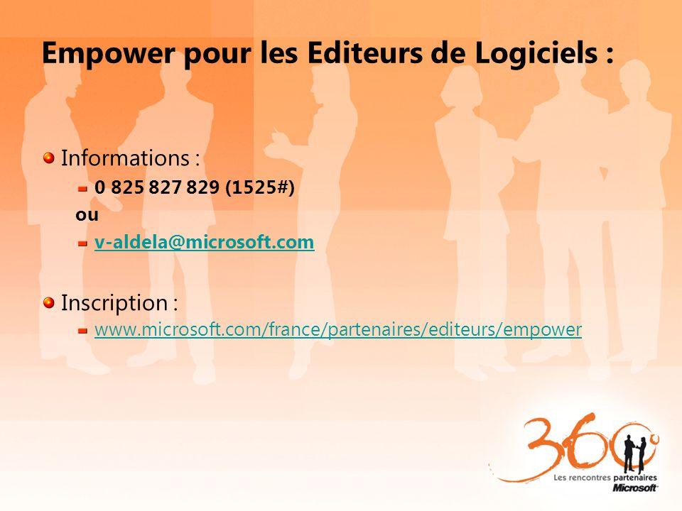Empower pour les Editeurs de Logiciels :