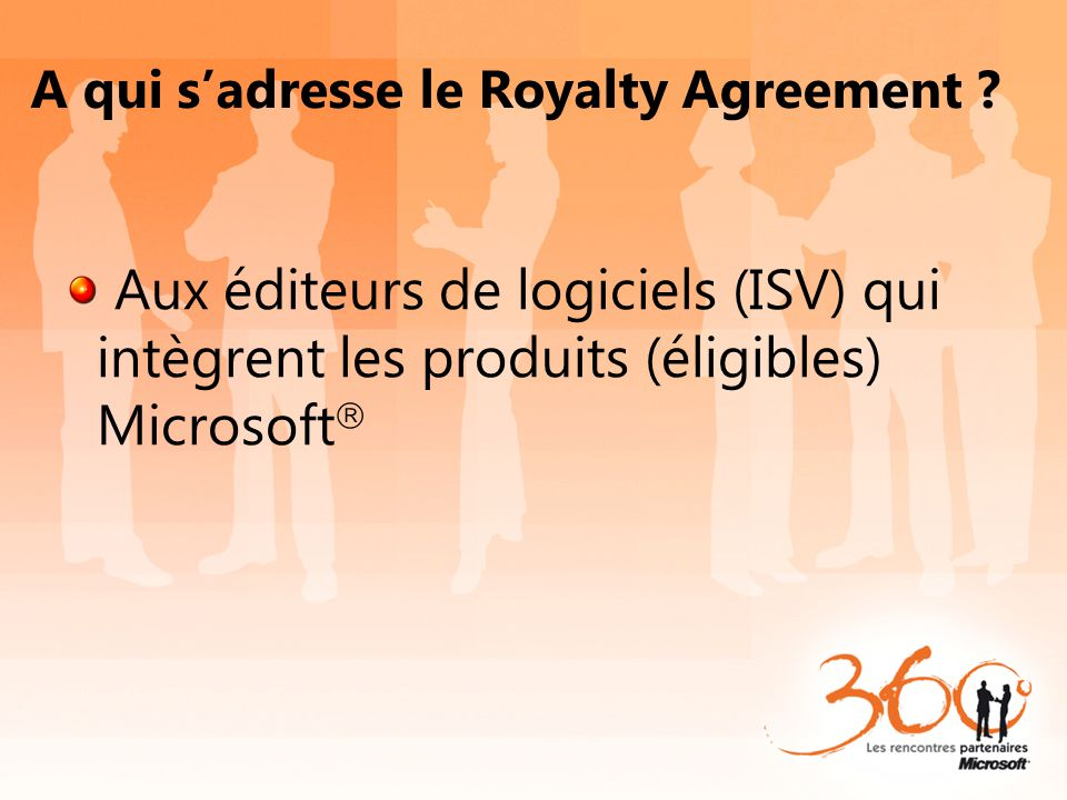 A qui s'adresse le Royalty Agreement