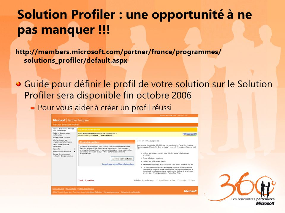 Solution Profiler : une opportunité à ne pas manquer !!!