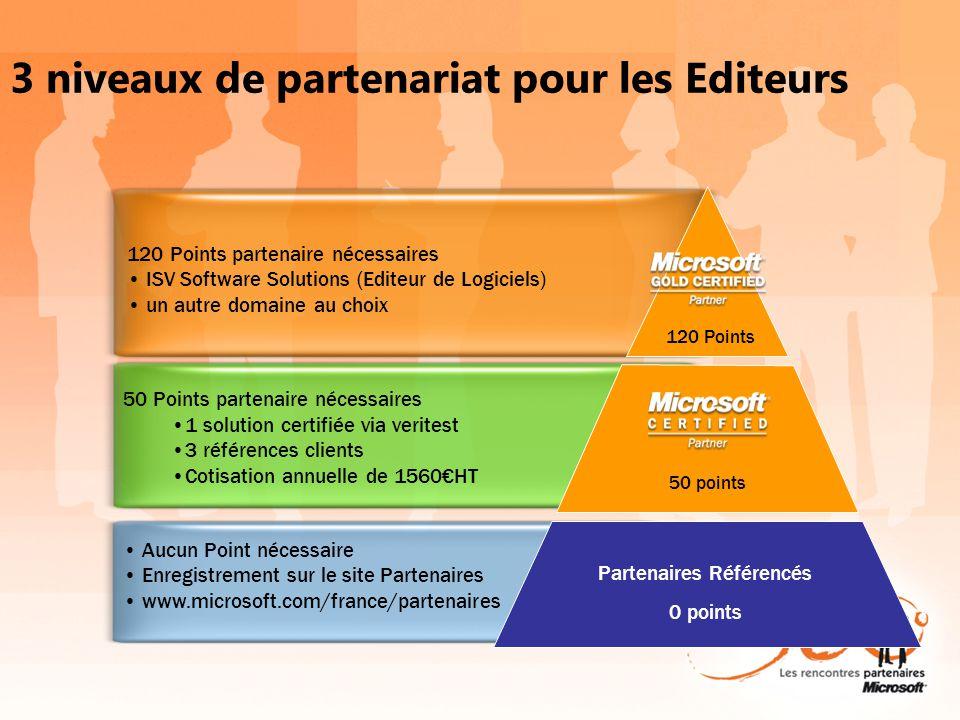 3 niveaux de partenariat pour les Editeurs