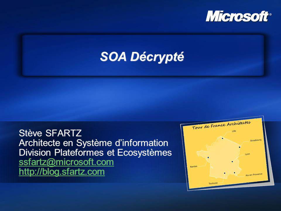 SOA Décrypté Stève SFARTZ Architecte en Système d'information