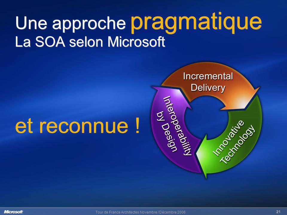 Une approche pragmatique La SOA selon Microsoft