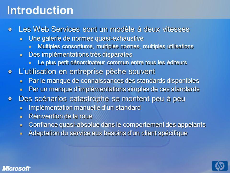 Introduction Les Web Services sont un modèle à deux vitesses