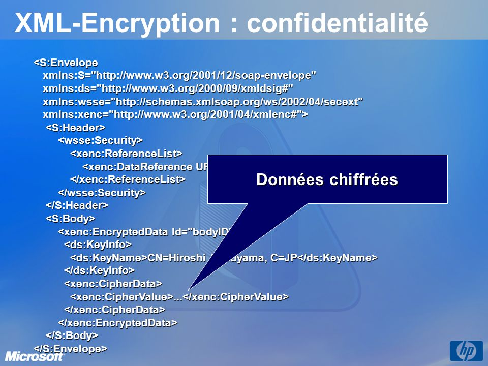 XML-Encryption : confidentialité