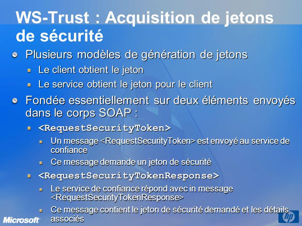 WS-Trust : Acquisition de jetons de sécurité