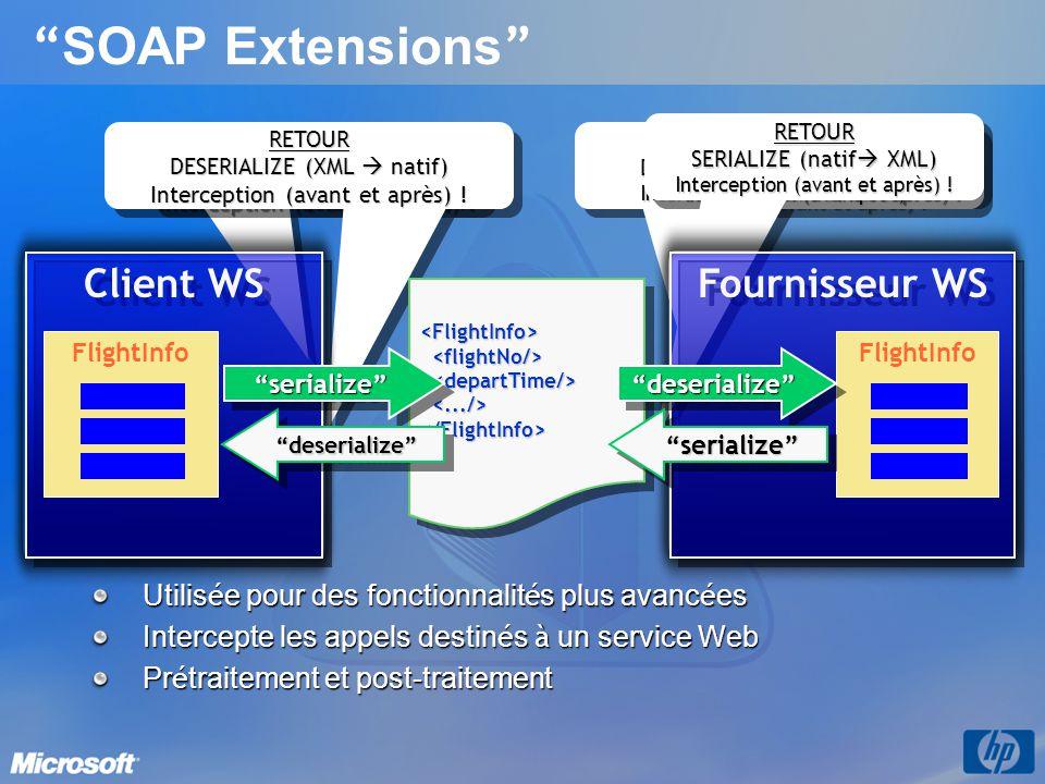SOAP Extensions Client WS Fournisseur WS