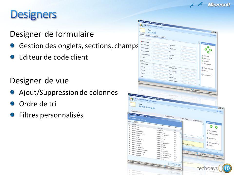 Designers Designer de formulaire Designer de vue