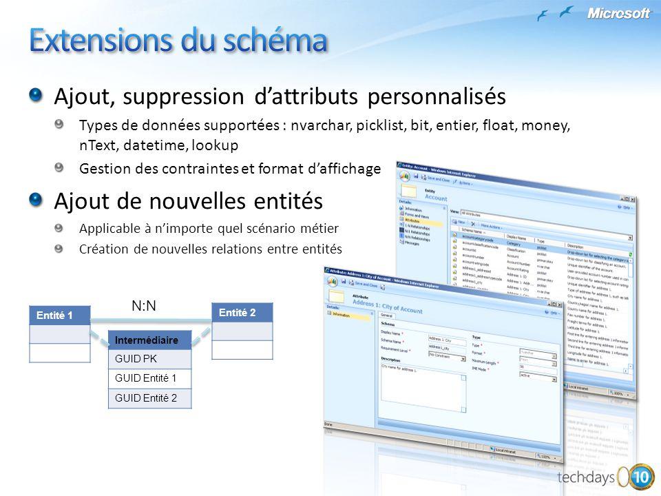 Extensions du schéma Ajout, suppression d'attributs personnalisés