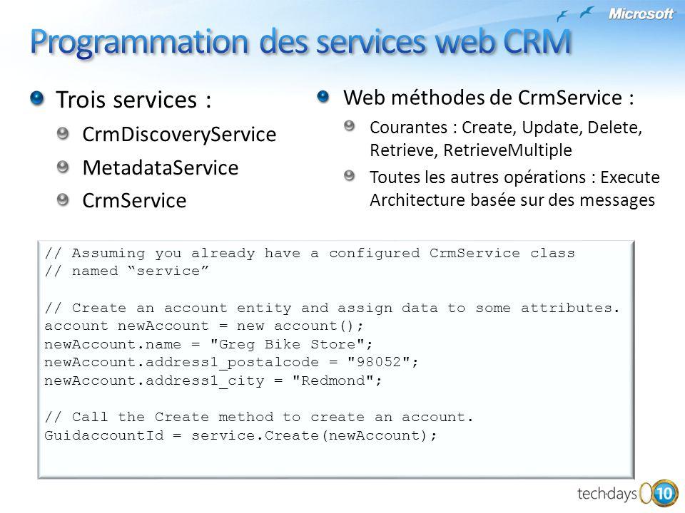 Programmation des services web CRM