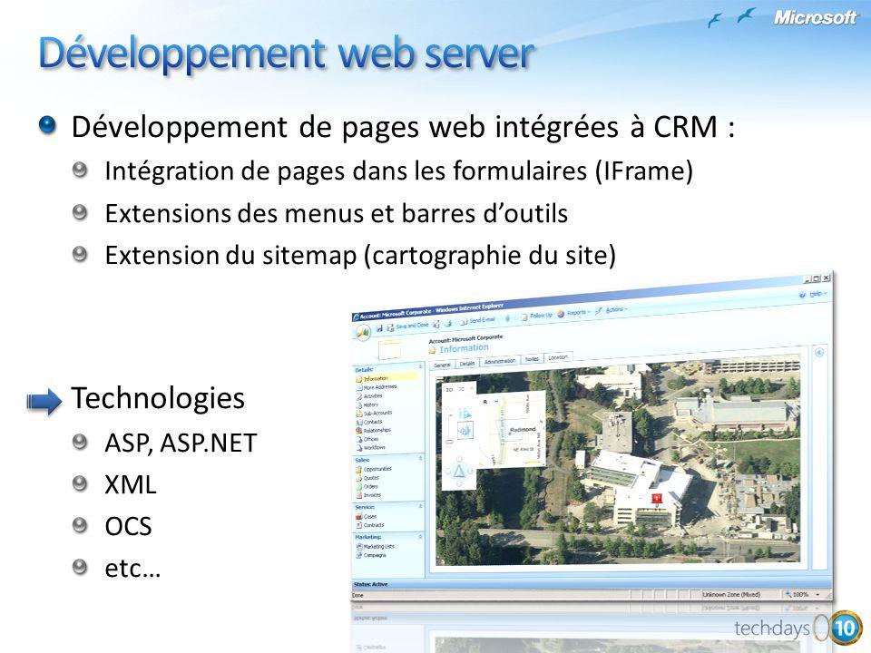 Développement web server