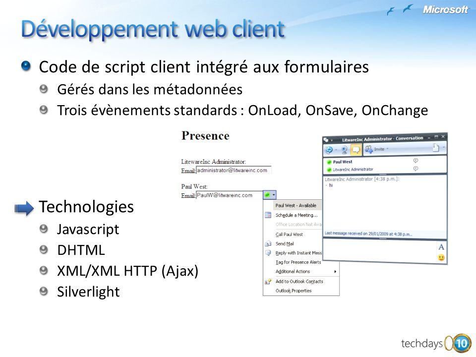 Développement web client