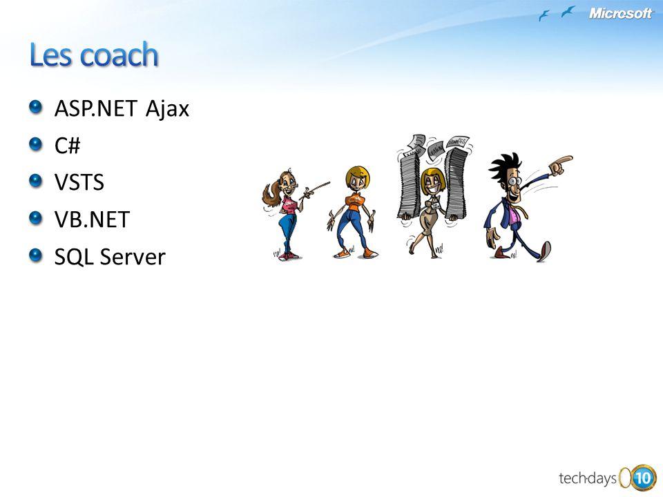 Les coach ASP.NET Ajax C# VSTS VB.NET SQL Server Presentation_title