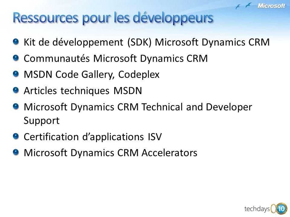 Ressources pour les développeurs