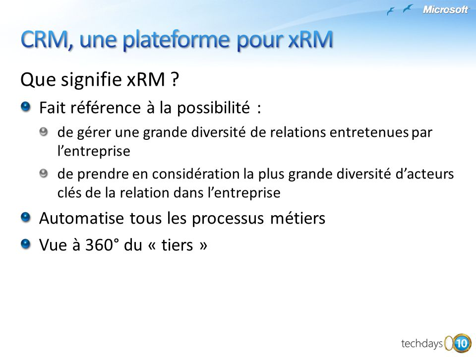 CRM, une plateforme pour xRM