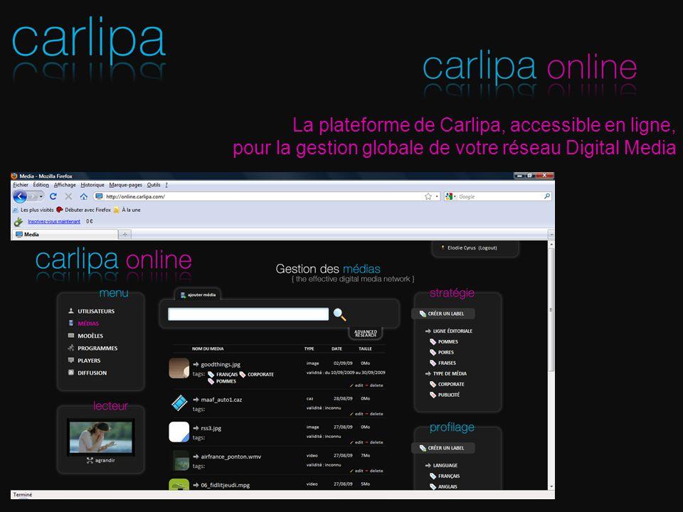 La plateforme de Carlipa, accessible en ligne,