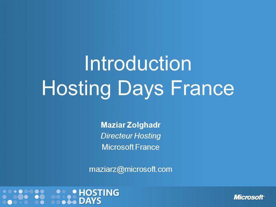 Introduction Hosting Days France
