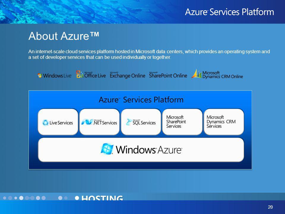 Azure™ Services Platform