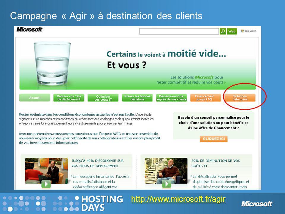Campagne « Agir » à destination des clients