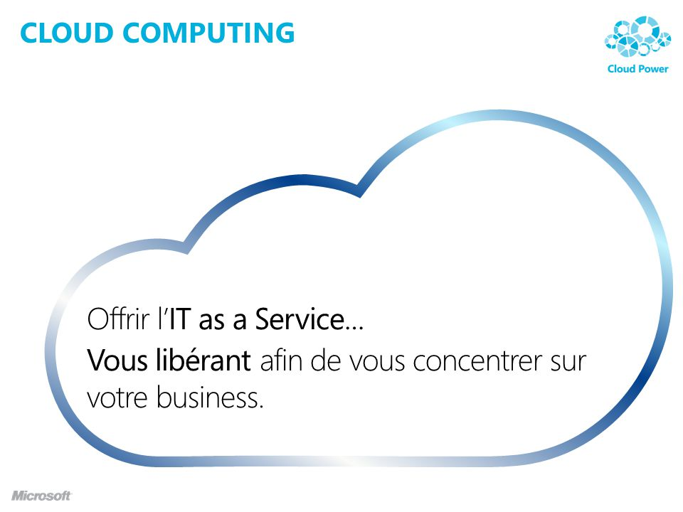 Offrir l'IT as a Service…