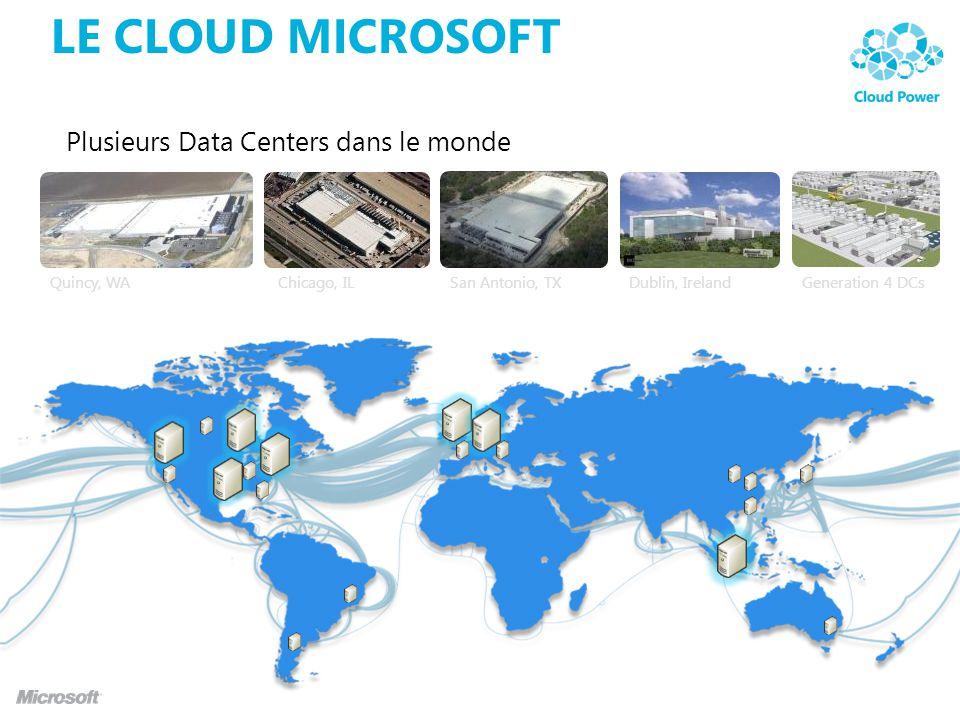Le Cloud Microsoft Plusieurs Data Centers dans le monde PRISM FY11
