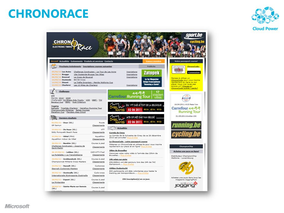 Chronorace Leader in sport events timing Organizes 350 events a year