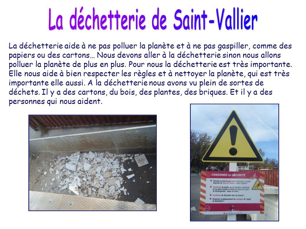 La déchetterie de Saint-Vallier