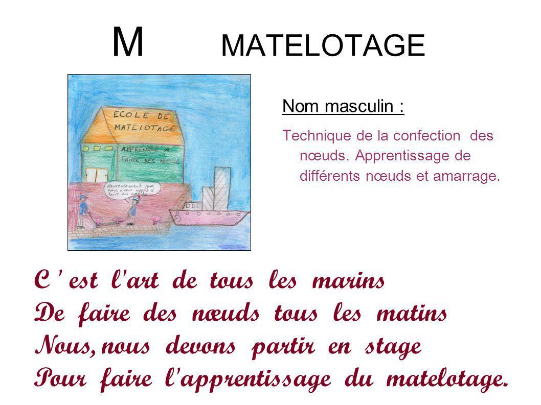 M MATELOTAGE C est l art de tous les marins