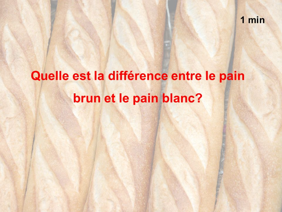 Quelle est la différence entre le pain brun et le pain blanc