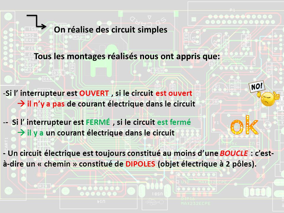 On réalise des circuit simples