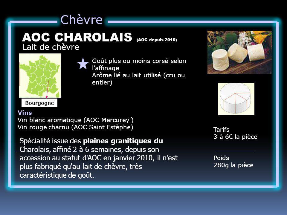 AOC CHAROLAIS (AOC depuis 2010)