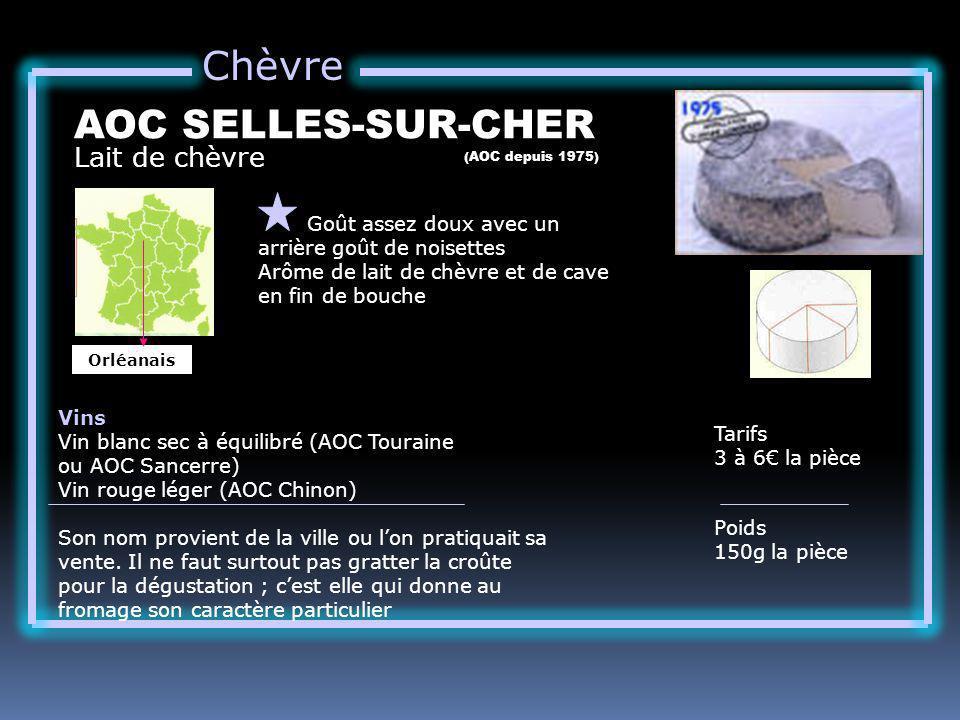 Chèvre AOC SELLES-SUR-CHER Lait de chèvre