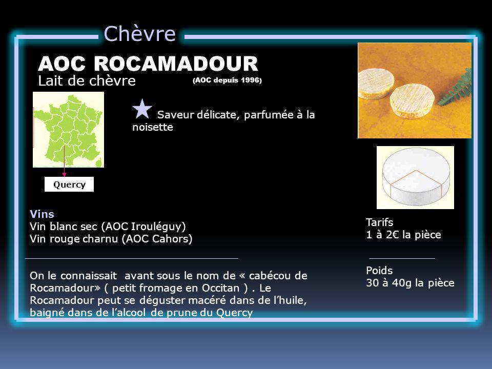 Chèvre AOC ROCAMADOUR Lait de chèvre