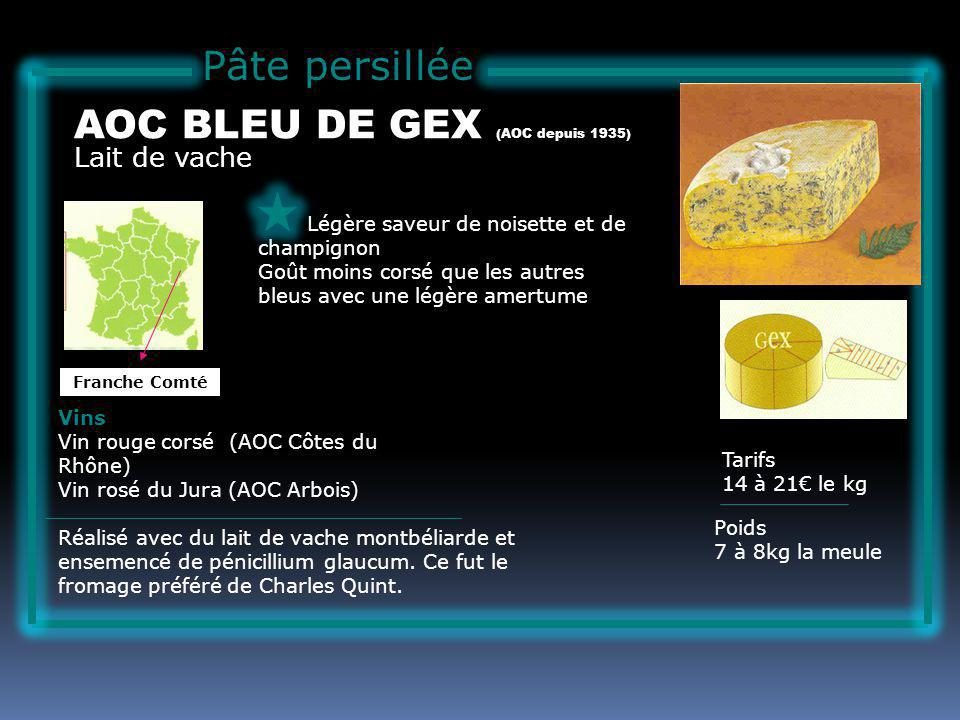 AOC BLEU DE GEX (AOC depuis 1935)