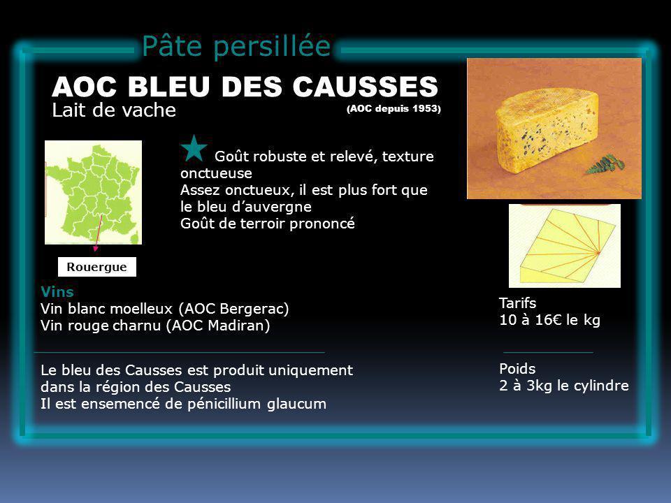 Pâte persillée AOC BLEU DES CAUSSES Lait de vache