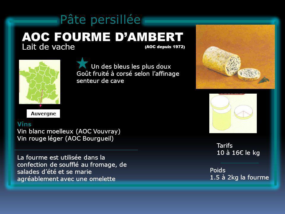 Pâte persillée AOC FOURME D'AMBERT Lait de vache