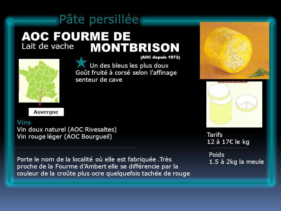 Pâte persillée AOC FOURME DE MONTBRISON Lait de vache