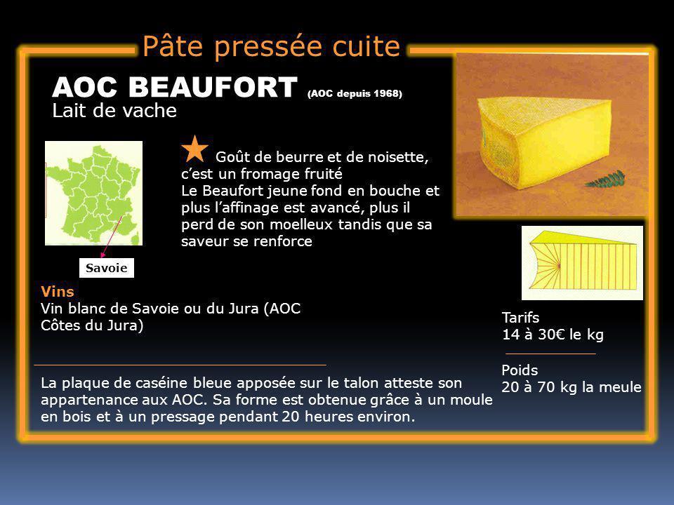 AOC BEAUFORT (AOC depuis 1968)